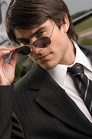 Portrait of a businessman wearing sunglasses