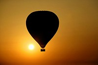 Egypt - Luxor - Hot air balloon - Flight over the West Bank