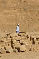 Guard at the foot of the Isis temple