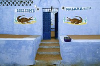 Paintings on a house wall in a Nubian village