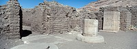 Ramesseum temple _ Old Roman houses in the temple