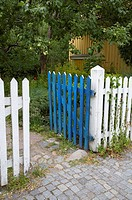 An open gate of a garden, Smaland, Sweden