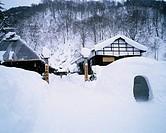 Nyuto Hot Spring Area Winter Tazawakomachi Akita Japan
