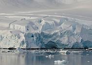 Tidewater glacier, Paradise Bay, Antarctica.