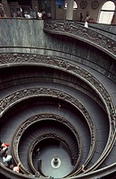 A spiral stairway in Vatican City, Rome.