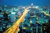 Night view of Seoul,Korea