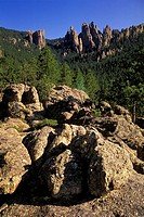 Cathedral Spires, Custer State Park,The Needles Highway, South Dakota, USA