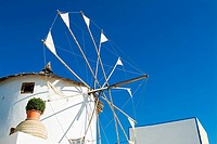 Windmill, Oia, Santorini, Cyclades Islands, Greece