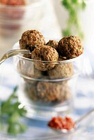 Tunisian beef balls with mint and coriander