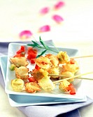Ravioli skewers with fleur de sel sea salt (thumbnail)