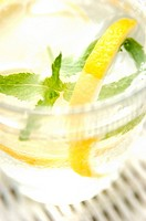 water, lemon and mint