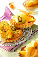 mini exotic fruit tarts