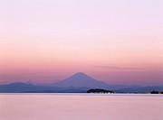 Evening View, Mt. Fuji Mountain Zushi Kanagawa Japan Sea Enoshima