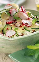 Cucumber and mint salad