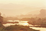 River At Sunrise,Gyeonggi,Korea