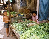 Phnom Penh Street stall Cambodia