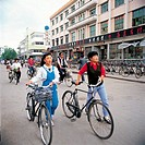 Young People With Bicycle,Yanji,China