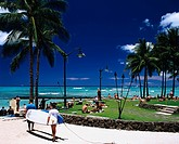 Kuhio beach Waikiki Oahu Hawaii Coconut Surfboard