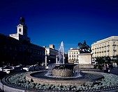Puerta del Sol, Madrid, Spain, Square, April