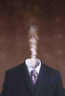 Steaming Businessman
