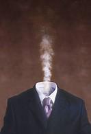 Steaming Businessman