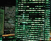 Night view of Buildings,Korea