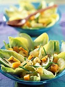 Chicory salad with mango