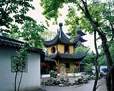 Hanshan Temple, bell tower, Suzhou, Jiangsu, China, tree, green, temple, buddhist temple, April