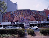 Insurgentes theater Mexico City Mexico Tree Car Road People Theater Building