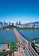 Cheongdamdaegyo Bridge,Hangang River,Seoul,Korea