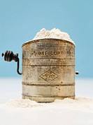 Flour in a flour sieve