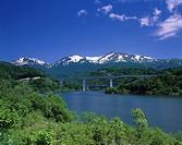 Gassan Lake, Gassan, Nishikawa, Yamagata, Japan