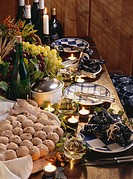 Autumnal festive table for wine festival 1