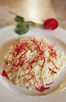 Risotto alle rose Risotto with rose petals, Italy