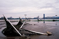 Flood Disaster,Hangang River,Seoul,Korea