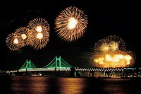 Fireworks,Gwangandaegyo Bridge,Busan,Korea