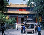 Linggu Temple, Nanjing, Jiangsu, China, temple, architecture, people, October