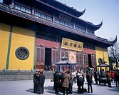 Winter, Lingyin Temple, The Daxiong treasure, Crowded, Hangzhou, Zhejiang, China