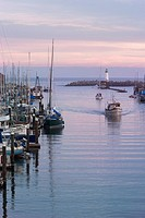 Boats Coming Into Santa Cruz Harbor