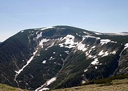 View of the Karkonosze mountains in Poland
