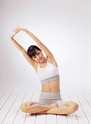 Young Woman Practicing Yoga, Korean