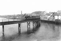 Barnstaple, the Railway Bridge over the River Taw 1912