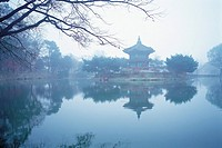 Hyangwonjeong Pavilion,Gyeongbokgung Palace,Jongno-gu,Seoul,Korea