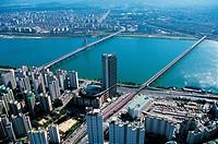 Olympicdaegyo Bridge,Hangang River,Seoul,Korea