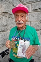 93 year old Alberto Arroyo nicknamed ´the mayor of Central Park´, Manhattan. NYC, USA