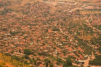 Bergama city, Turkey, High Angle View