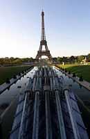 Panoramic view of the Eiffel tower, Paris, France