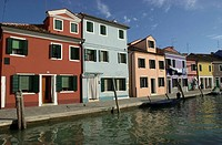 Houses on the waterfront Venice Italy