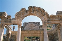 The site of Ephesos, Turkey, Low Angle View