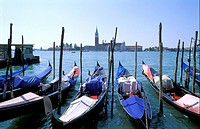 The Church of Saint George and Gondolas, Venice